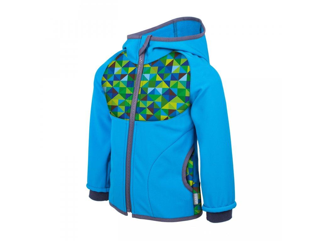 c98fa1b3303c NEW unuo Softshellová bunda s fleecem Triangl Tyrkysová