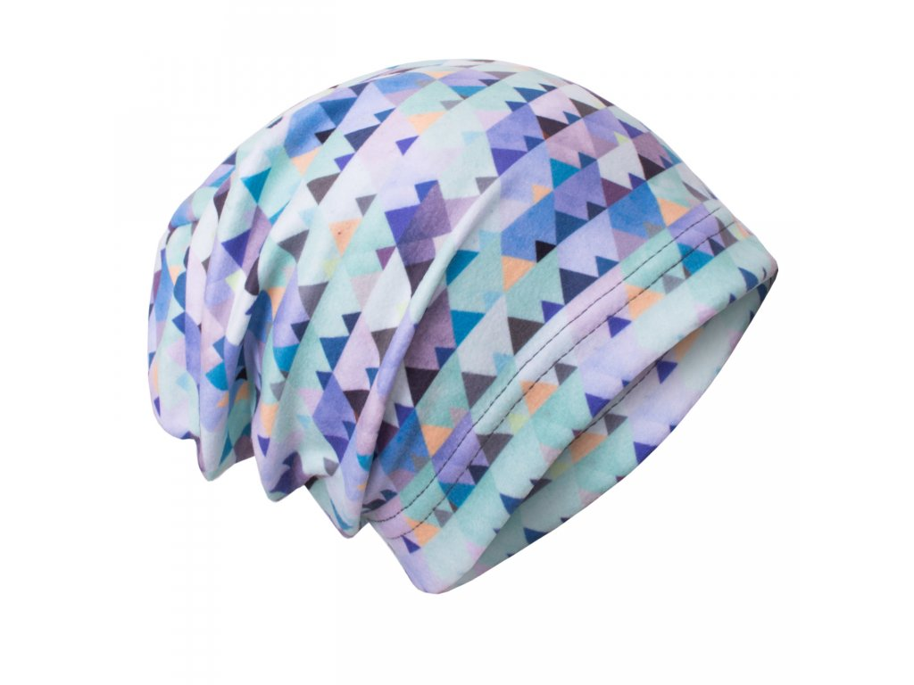 bbce2ae37c0 unuo fleecová čepice mini trojúhelníčky empty