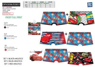 Chlapecké boxerky CARS (2-8let)